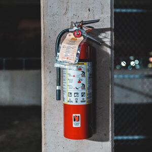 Facilities Maintenance Fire Extinguisher Testing